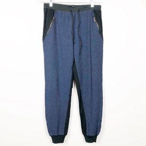 Elie Tahari Black and Navy Knit Jogger Pants S/XS